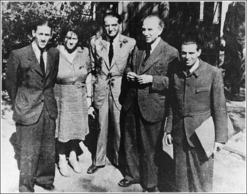 A cionista Mentőbizottság. A kép közepén Kasztner Rezső ügyvezető, balján Komoly Ottó elnök.