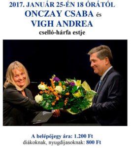 Onczay Csaba és Vigh Andrea hangversenye @ Szegedi Zsidó Hitközség