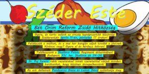 Bét Orim Szuper Széder @ Regiment Étterem és Kávézó - Honvéd Kulturális Központ Étterme