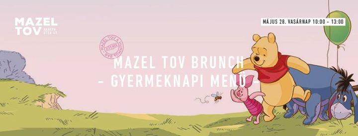 Mazel Tov Brunch • Gyermeknapi Menü •