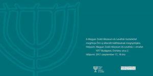 Kiállításmegnyitó @ Magyar Zsidó Múzeum és Levéltár - Hungarian Jewish Museum and Archives        