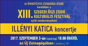 Illényi Katica koncertje az Új Zsinagógában @ Szegedi Zsinagóga        