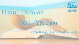 High Holidays: RH+YK prep @ Mózes Ház - Moishe House Budapest        