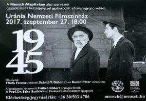 1945 c. film vetitese es Mensch Dijkiosztas @ Théâtre cinématographique national Uránia |  |  |