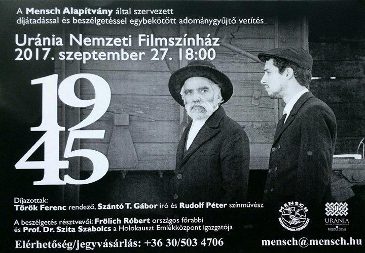 1945 c. film vetitese es Mensch Dijkiosztas