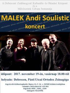 Malek Andrea koncert @ Debreceni Zsidó Hitközség - Orthodox zsinagóga - Db. Pásti u. 4 sz. |  |  |