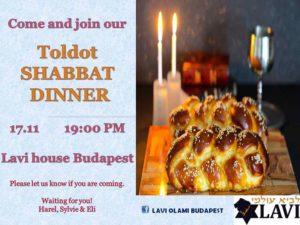 Toldot Shabbat Dinner @ Lavi House Budapest |  |  |